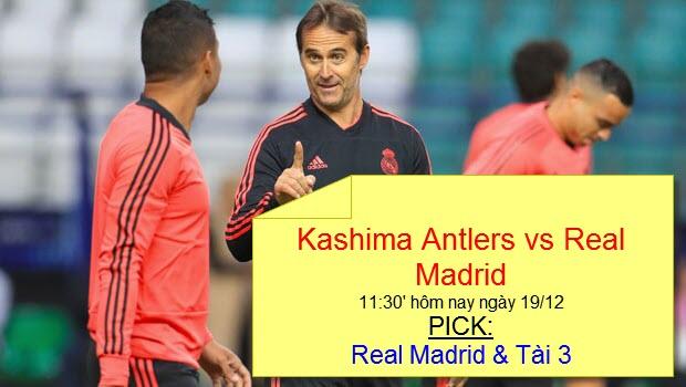 Soi kèo Dafabet: Đặt cược vào trận Kashima Antlers vs Real Madrid